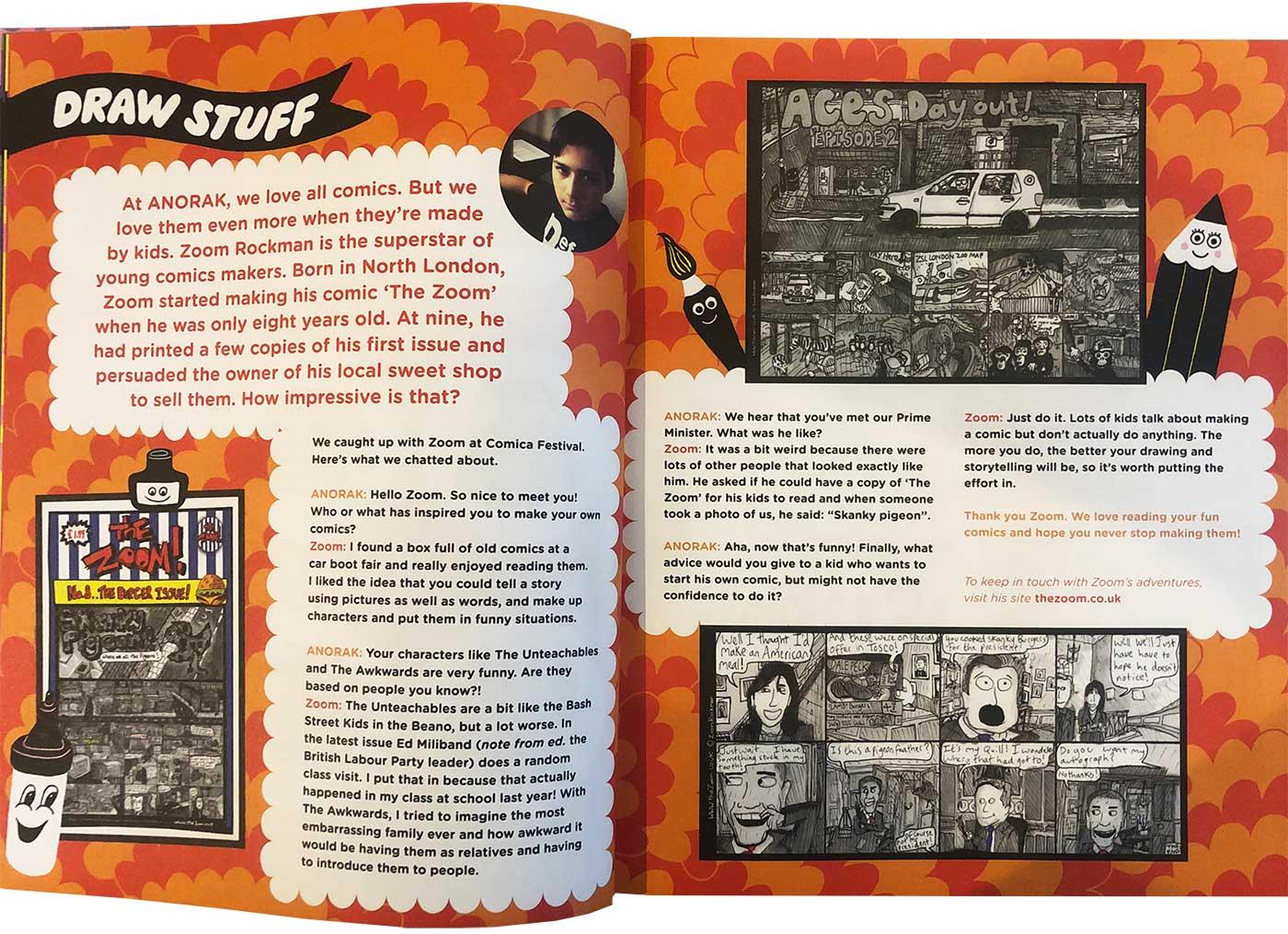 Anorak Magazine featuring Zoom Rockman