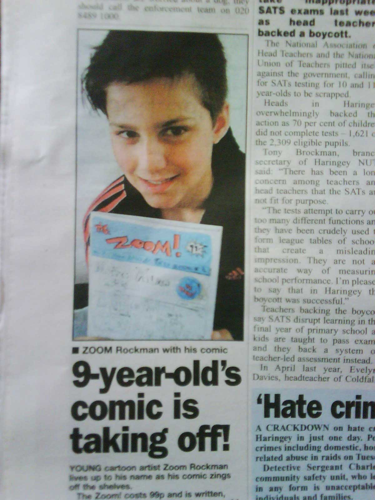 Hornsey Journal featuring Zoom Rockman
