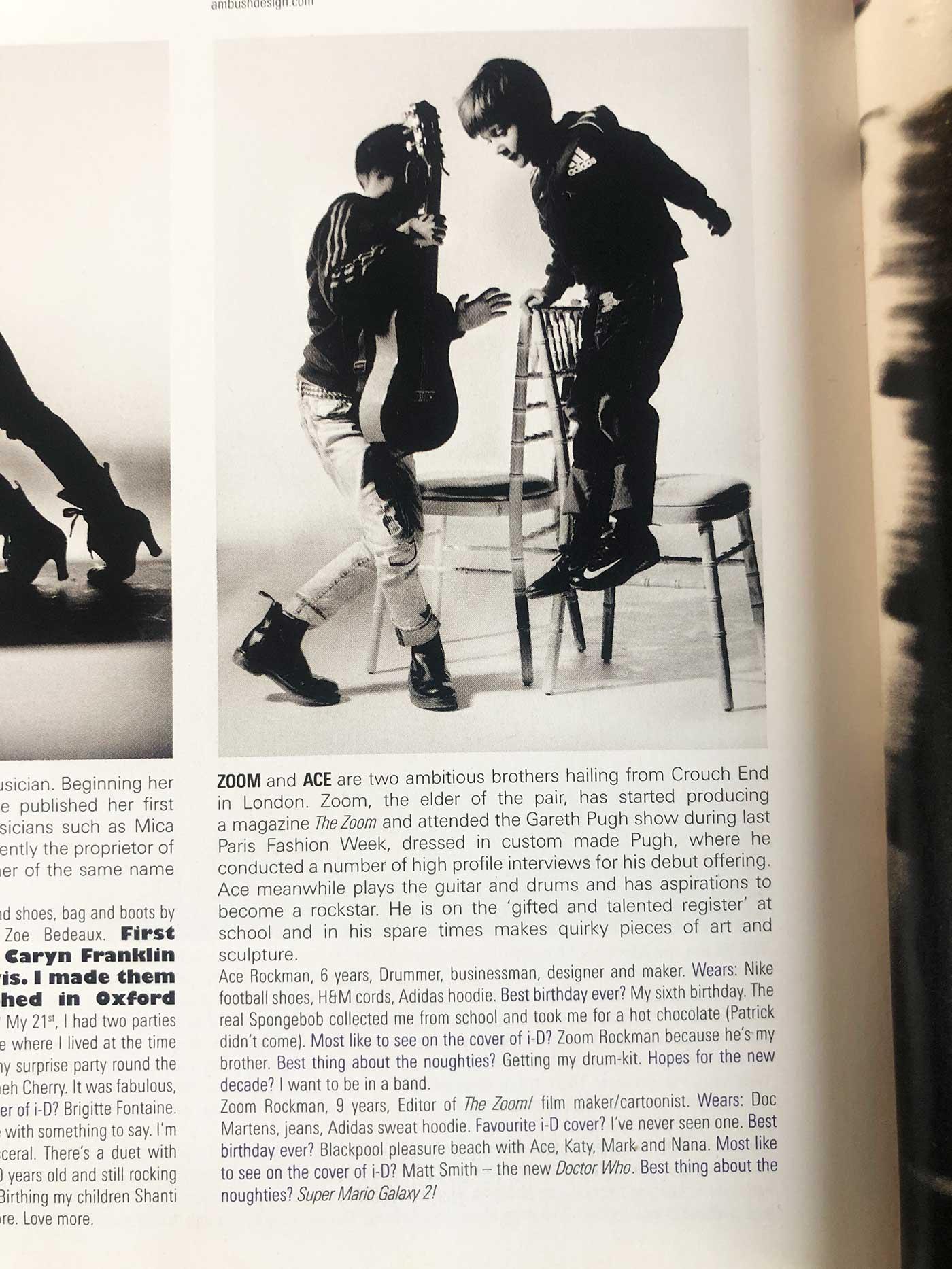 ID Magazine featuring Zoom Rockman