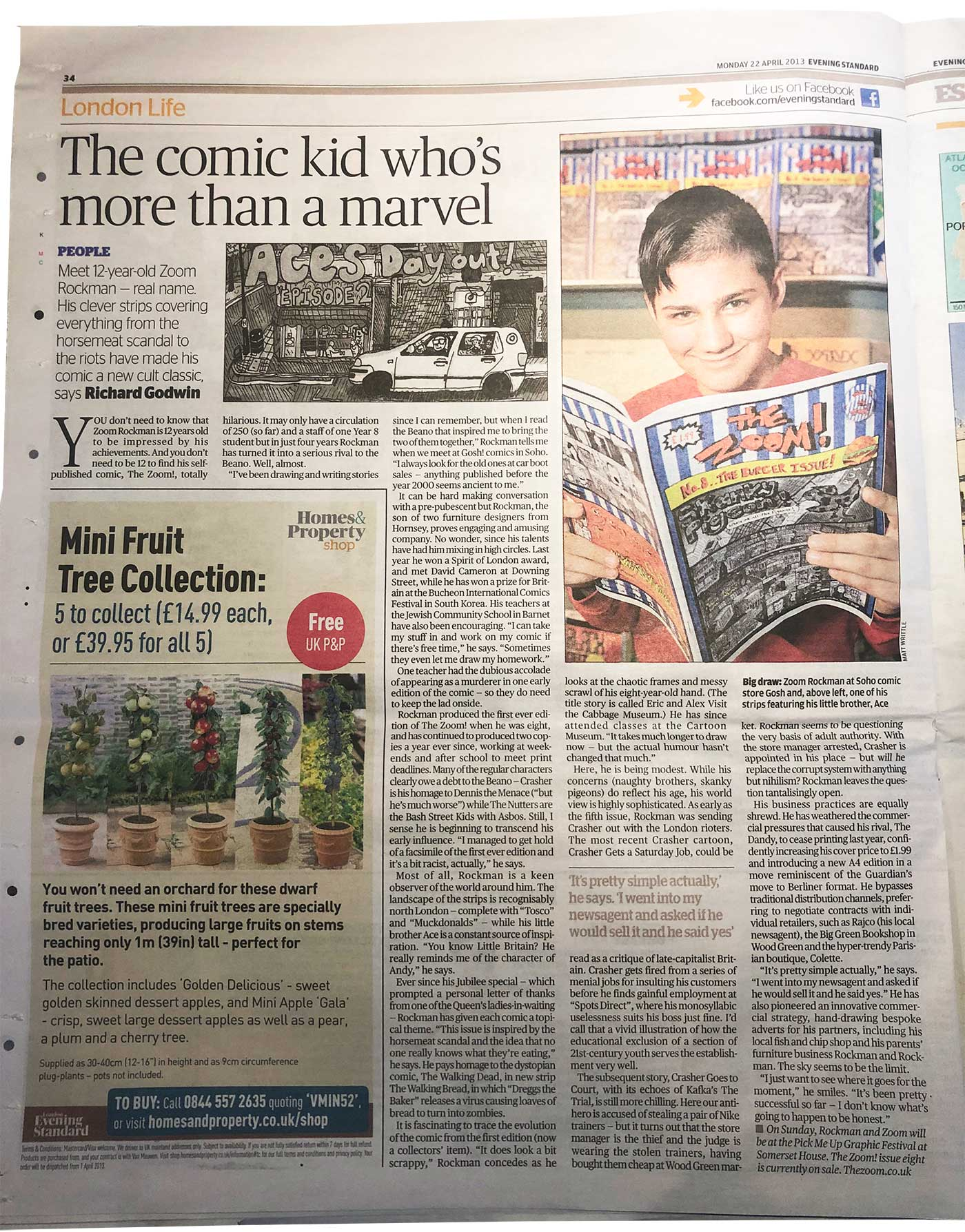 London Evening Standard featuring Zoom Rockman