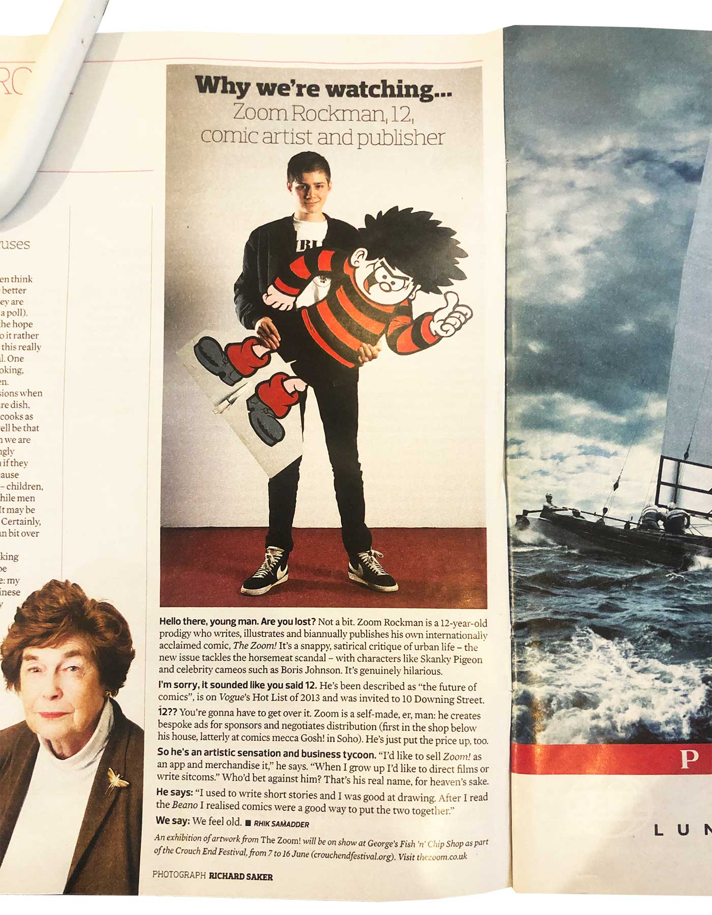 The Observer Magazine featuring Zoom Rockman