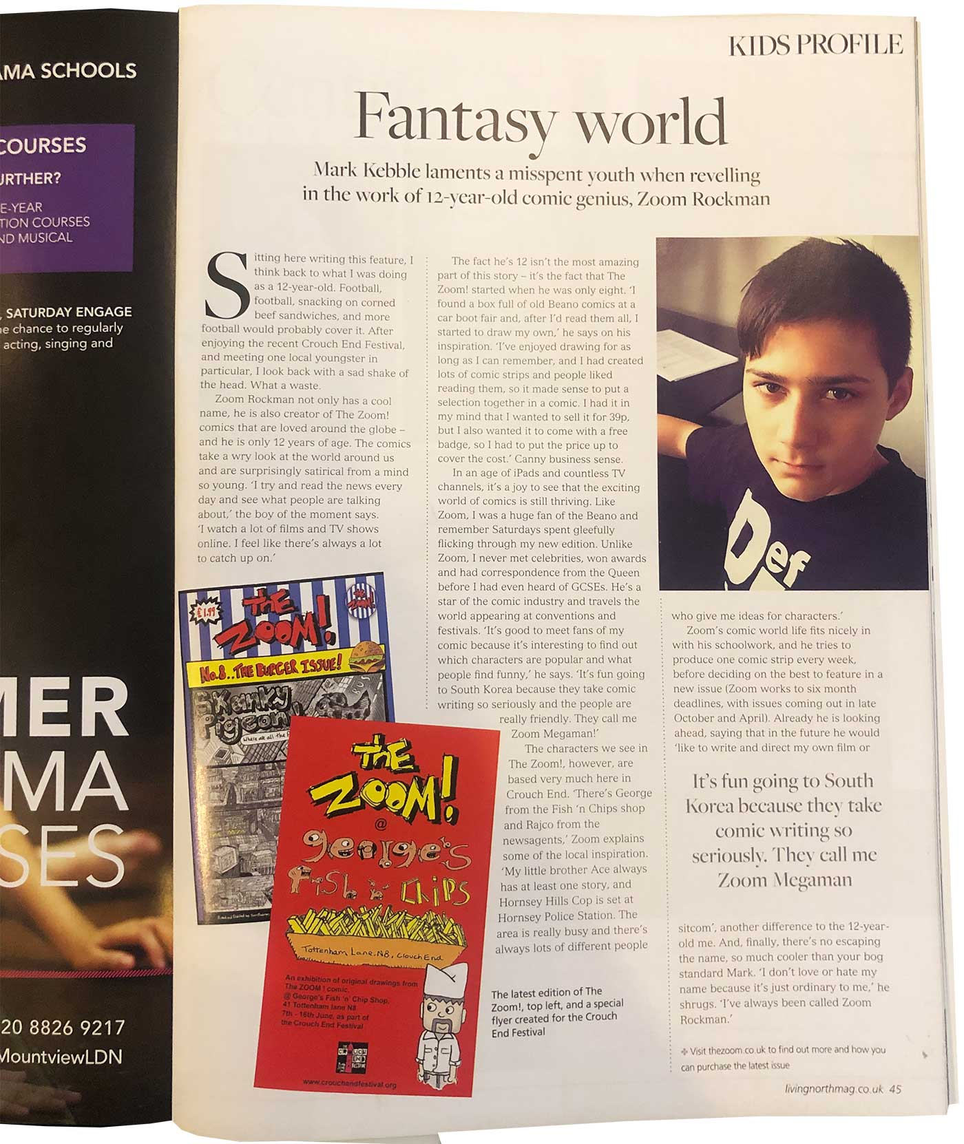 Living North Magazine featuring Zoom Rockman